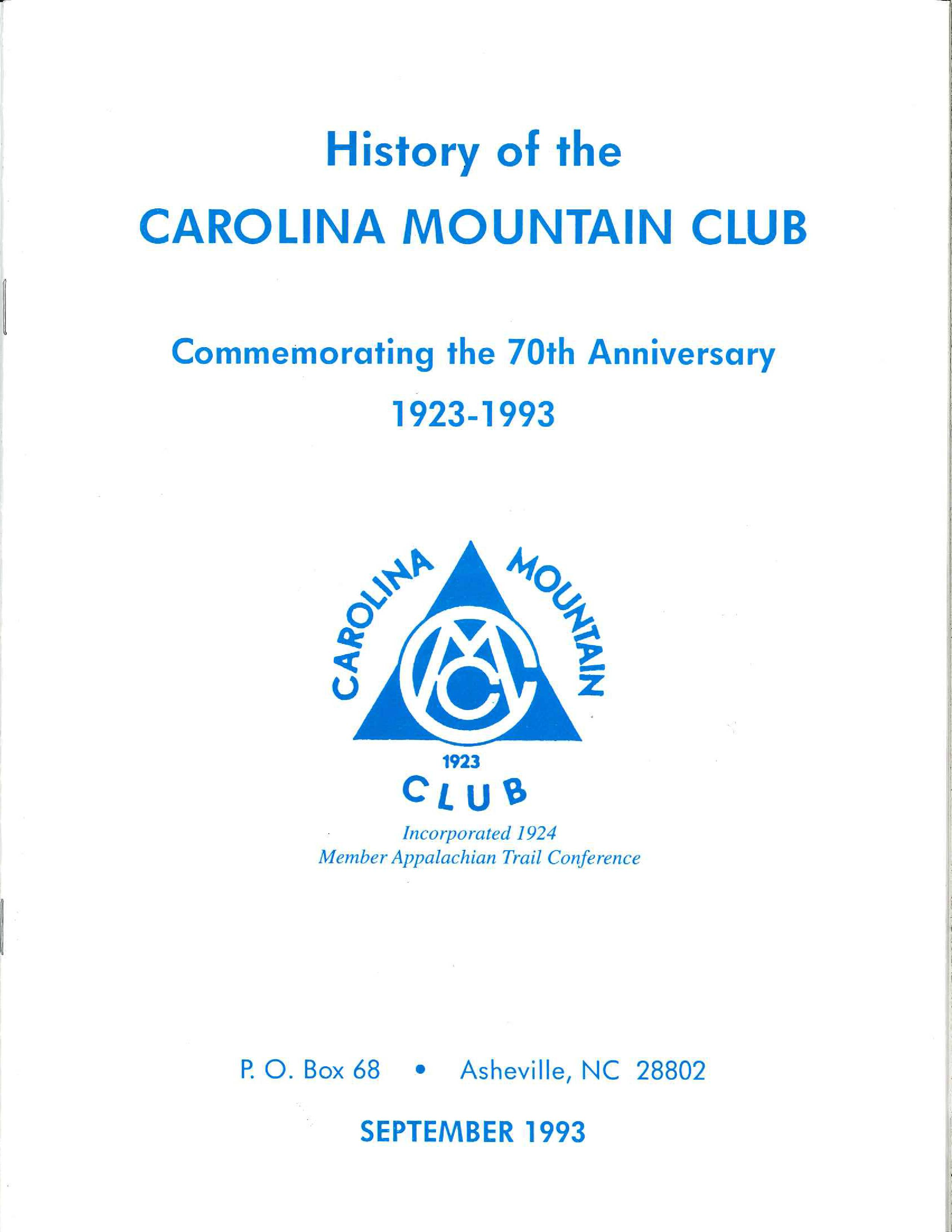 70th Anniversary of the CMC Historical Narrative
